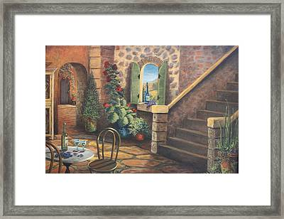 Tuscan Retreat Framed Print by Diana Miller