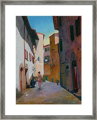 Tuscan Street Framed Print by Robert Bissett