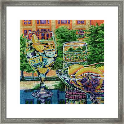Tuscan Summer Lemonade  Framed Print by Peter Piatt