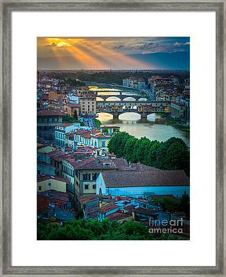 Tuscan Sunbeams Framed Print by Inge Johnsson