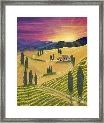 Tuscan Sunset B Framed Print