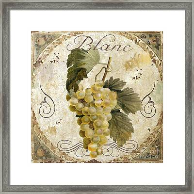Tuscan Table Blanc Wine Framed Print by Mindy Sommers