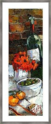 Tuscan Table Framed Print by Carole Foret
