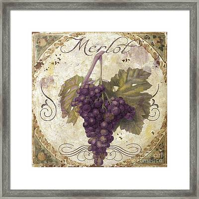 Tuscan Table Merlot Framed Print by Mindy Sommers