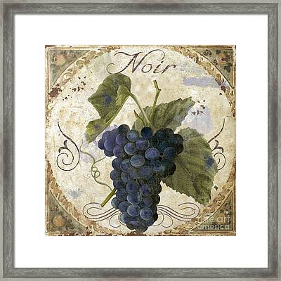 Tuscan Table Pinot Noir Framed Print by Mindy Sommers