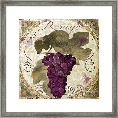Tuscan Table Rouge Framed Print