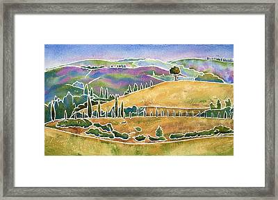 Tuscan Textures Framed Print by Mary Giacomini