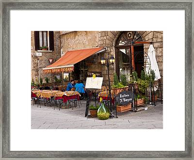 Tuscan Trattoria Framed Print by Rae Tucker