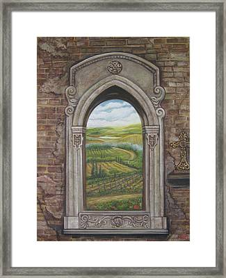 Tuscan View Framed Print by Diann Baggett