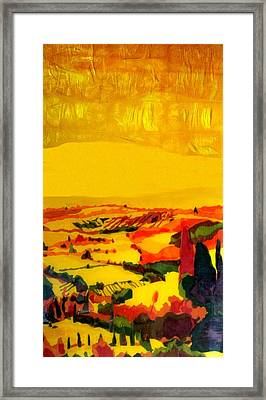 Tuscan View In Resin Framed Print