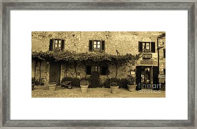 Tuscan Village Framed Print