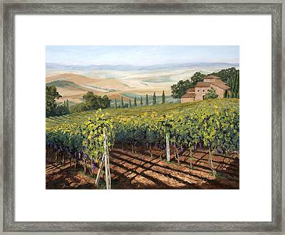 Tuscan Vines Framed Print by Mary Giacomini