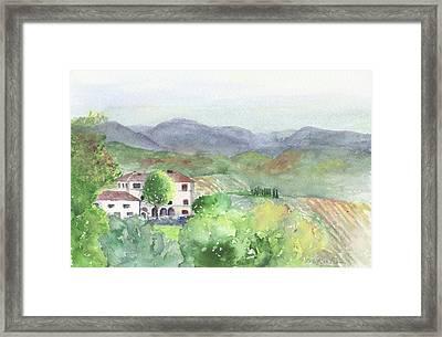 Tuscan Vineyards Framed Print
