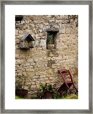 Tuscan Wall Framed Print