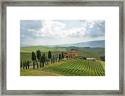 Tuscan Winery Framed Print