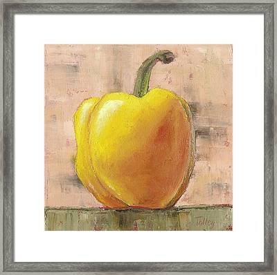 Tuscan Yellow Pepper Framed Print