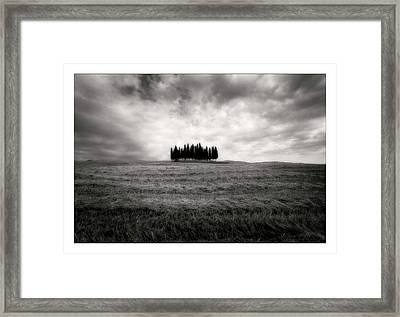 Tuscany - Italy - Black And White Framed Print by Marco Hietberg