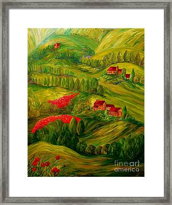 Tuscany At Dawn Framed Print by Eloise Schneider