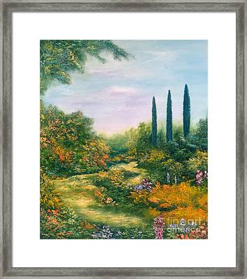 Tuscany Atmosphere Framed Print by Hannibal Mane