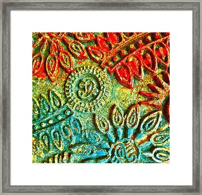 Tuscany Batik Framed Print by Gwyn Newcombe