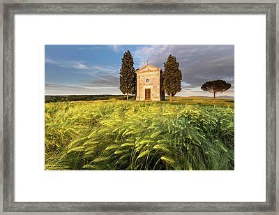 Tuscany Chapel Framed Print by Evgeni Dinev