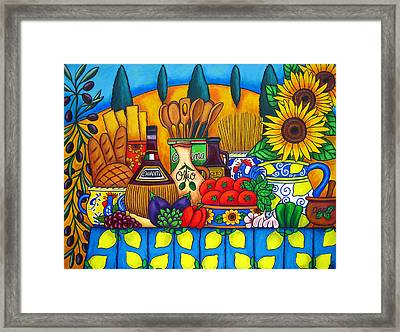 Tuscany Delights Framed Print by Lisa  Lorenz