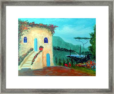 Framed Print featuring the painting Tuscany Dreams by Larry Cirigliano