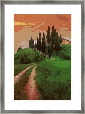 Tuscany, Fairy Landscape Framed Print