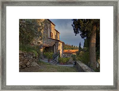 Tuscany Farmhouse  Framed Print by Al Hurley