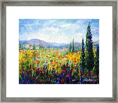 Tuscany Fields Framed Print