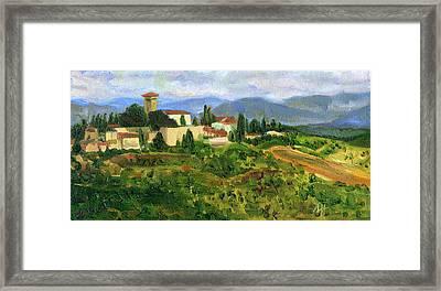 Tuscany From Castello Di Verrazzano Framed Print