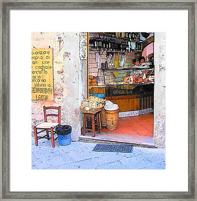 Tuscany - Gourmet Shop Framed Print by Jan Matson