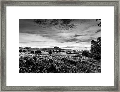 Tuscany In Bw Framed Print