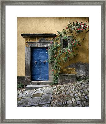 Nella's Blue Door Framed Print