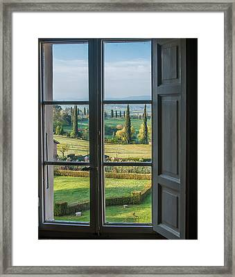 Tuscany Out My Window Framed Print