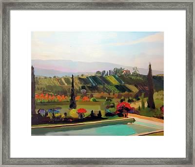 Tuscany Pool Framed Print by Brad Burns