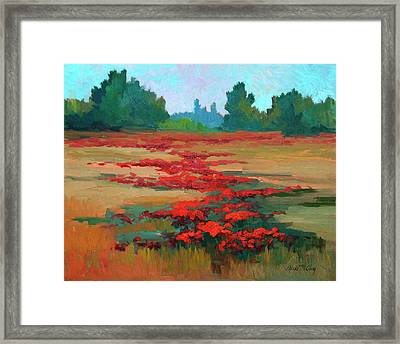 Tuscany Poppy Field Framed Print by Diane McClary