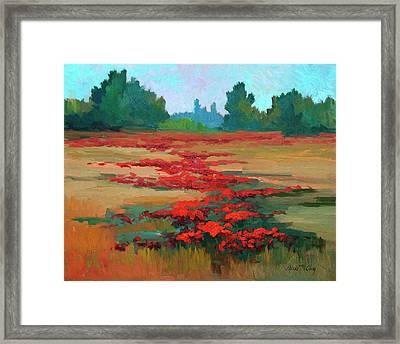 Tuscany Poppy Field Framed Print