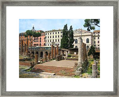Tuscany- Roman Forum Framed Print by Italian Art