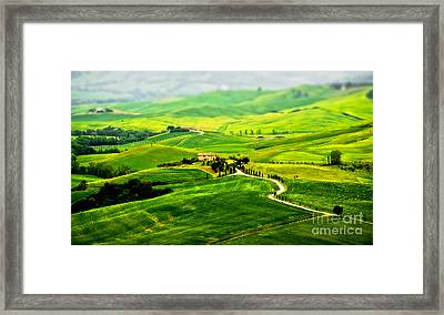 Tuscany S Green Scapes Framed Print by Alessandro Giorgi Art Photography