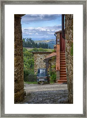 Tuscany Scooter Framed Print