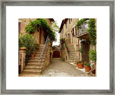 Tuscany Stairways Framed Print by Donna Corless