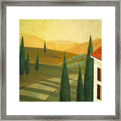 Tuscany Vinicola I Framed Print by Herb Dickinson