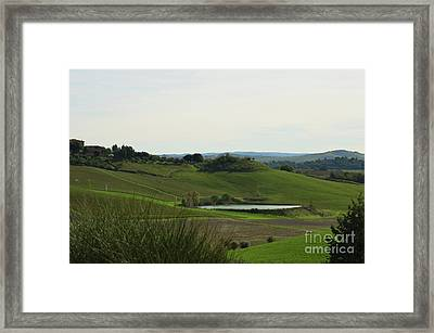 Tuscany's Countryside In Italy Framed Print by DejaVu Designs