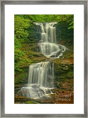 Tuscarora Cascades Framed Print by Adam Jewell
