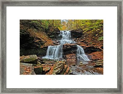 Tuscarora Falls Framed Print by Ben Prepelka