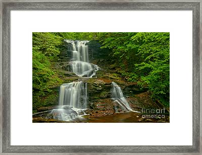 Tuscarora Falls Landscape Framed Print by Adam Jewell