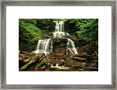 Tuscarora Falls Rocky Cascades Framed Print by Adam Jewell