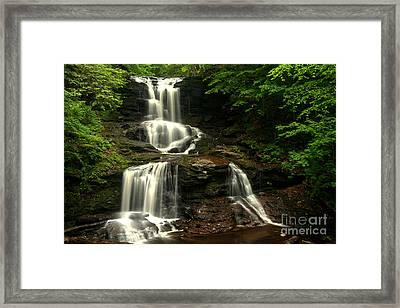 Tuscarora Falls Split Framed Print by Adam Jewell