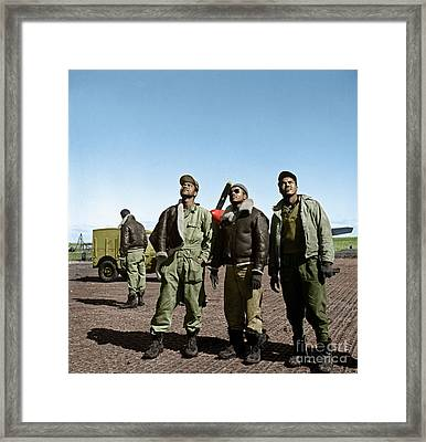 Framed Print featuring the photograph Tuskegee Airmen by Granger